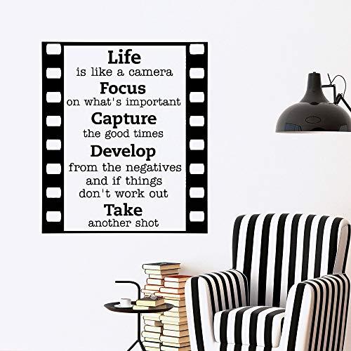 Wandtattoo Wohnzimmer Wandtattoo Schlafzimmer Motivation Zitat Das Leben ist wie eine Kamera Schriftzug Home Decor für Wohnzimmer Schlafzimmer - Wie Leben Ist Das Kamera Eine