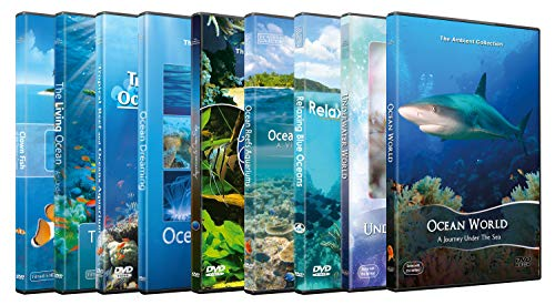 Underwater DVD Supersale Collection - 9 Disc Set to Entertain Kids and Family of Sea Life Underwater World