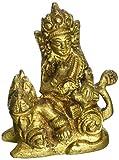 Gangesindia Lord Kuber Brass Statue (6.35 CM, 5.08 CM, 2.54 CM)