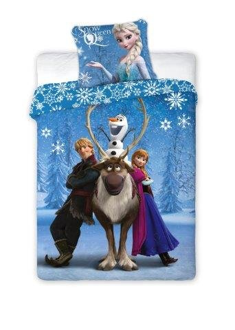 che 140x200cm + Kissenbezug 70x90cm (Passt 135x200) Frozen Snow Queen 105 ()