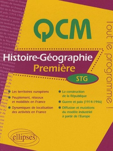 Histoire-Géographie : Première STG