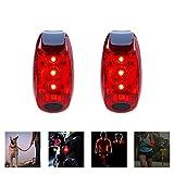 AlierGo 2er-Set LED Multifunktion-Sicherheitslicht mit Befestigungsclip und Klettverschlussband Drei Modi / Rücklicht für Fahrrad/Blinklicht für Laufen und Wandern/ Signallicht für Hundehalsband