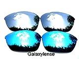 Galaxy lentes de repuesto para Oakley Half Jacket 2.0 azul y titanio Color Polarizados 2 Pares - Azul Y Titanio