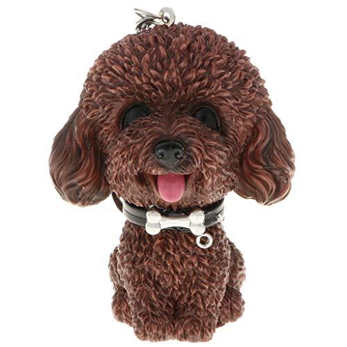 Homyl Nette Gummi quietschenden Hund Schlüsselanhänger Keychain Auto Anhänger Geldbörse Handtasche Schlüsselbund - Pudel (Hund Foto-verzierung)