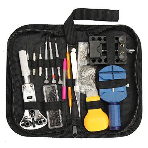 Yangge Yujum 144pcs Profi-Uhr-Kasten-Halter-Werkzeug-Satz-Uhr Adjustable zurück Öffner-Frühlings-Stab-Remover Kit (Uhr-werkzeug-kasten)