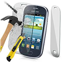N4U Online® - Genuine Tempered Glass Screen Protector for Samsung Galaxy Fame S6810