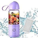 Mini Mixer/Smoothie Maker mit 3 Blades, USB wiederaufladbare Entsafter Tasse vier Klingen in 3D, Babynahrung Mixing Personal Blender, Haushalts Obst Gemüse Mixer und tragbaren mobilen Mixer, 550ML