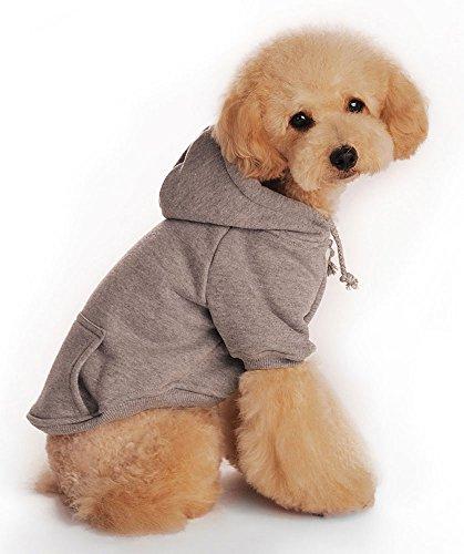 niceeshop(TM) Modern Weich Baumwoll Hund Hoodie Bekleidung(Grau,M) - 4