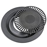 BBQ Griddle Pan, Outgeek 12.60'' Smokeless Non-Stick Stovetop Flame Friendly BBQ Pan for Indoor/Outdoor