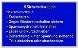 H.Klar Aufkleber 5 Sicherheitsregeln D-H003 250x400mm