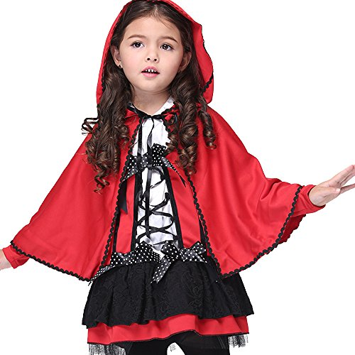 ne Rotkäppchen Kostüm Fancy Dress Hens Party Halloween Outfit (Einzigartige Gruppe Halloween-kostüme)