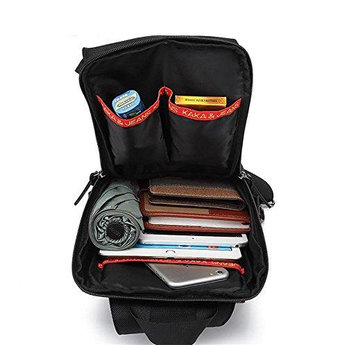 ROBAG Koreanische Herrenmode outdoor Leinwand Sporttasche Brust Pack Freizeit Trends des outsourcing blue