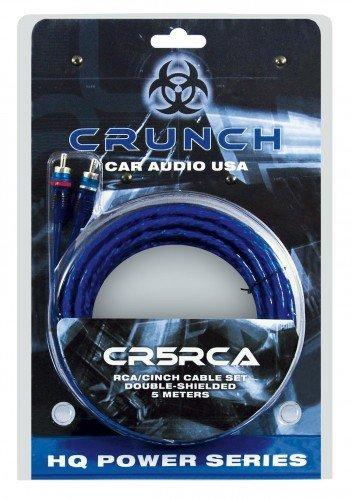 Crunch Cinchkabel 5 m cr5rca [2X Cinch-Stecker - 2X Cinch-Stecker]
