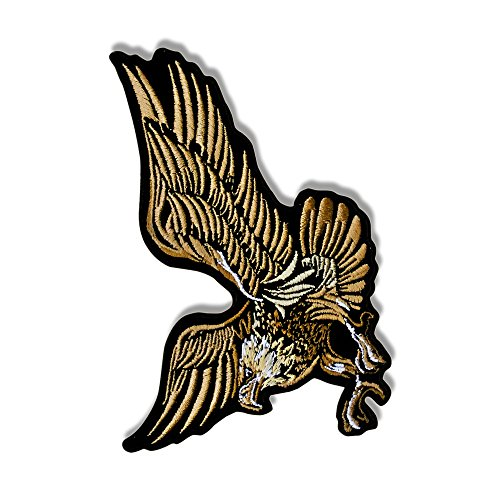 EAGLE IN FLIGHT, Exceptional Quality Iron-On / Saw-On, Heat Sealed Backing Rayon PATCH - 5
