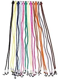 SODIAL(R) 12pcs Nylon Gafas/Espectaculo/Gafas de sol/Gafas Cuerda Soporte Cuello Cadena- Colores Surtidos