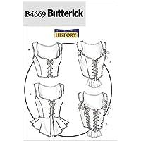 McCall's Patterns B4669 Butterick - Patrón para corsé (tallas 34, 36, 38 y 40), color blanco