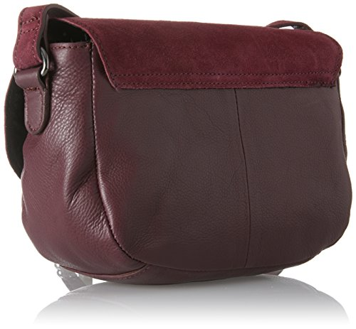 PIECES - Pcjoline Leather Cross Body, Borse a tracolla Donna Rosso (Port Royale)
