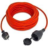 TROTEC Qualitäts-Verlängerungskabel 15 m 230 V 1,5 mm² IP44 Verlängerungsleitung Kabel Verlängerungskabel Garten