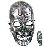 Fritz Fries & Söhne GmbH Kostüm Zubehör Halbmaske Cyborg Schädel Totenkopf Halloween