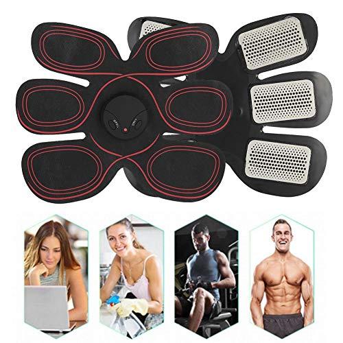Muskelstimulator, USB Elektrische Bauch Massagegerät Fettverbrennung Gerät Fitness Training Körper Trainingsgeräte mit 10 Massage Intensität