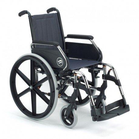 Silla de ruedas manual en acero plegable Breezy 250 asiento 43 cm