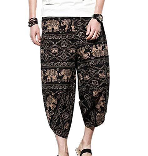 Summer Wide Leg Thailand Beach Pantalones Cortos De Tamaños Cómodos Verano De...