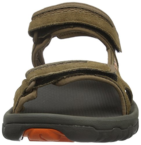 Teva M Hudson, Sandales de Randonnée Homme Marron (Dark Grey/Orange)