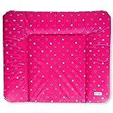 Wickeltischauflage Wickelauflage Wickelunterlage Sterne Babybett Baby 85x70cm weich Pink NEU
