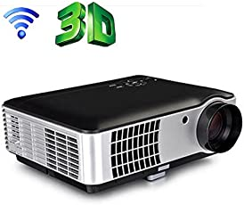 PLAYTM 5000 lumens Android Full HD Smart WI-FI, HDMI, USB Portable 1920 x 1080P Home Theater 3D LED Projector (Android + WIFI)