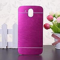HTC Desire 526G caso, Wkae® HTC 526G caso, Lujo cepillado del metal del acero Volver pl¨¢stico cubierta del estuche r¨ªgido para HTC Desire 526G by Diebell(Rose)
