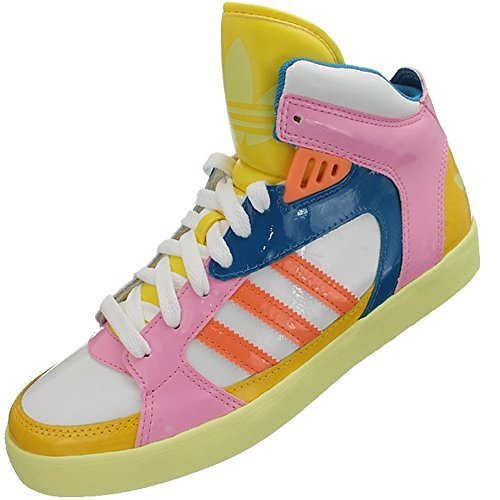 Adidas Amberlight W D65848 Damen Sneaker / Freizeitschuhe / Booties Weiß Rosa Multicolor
