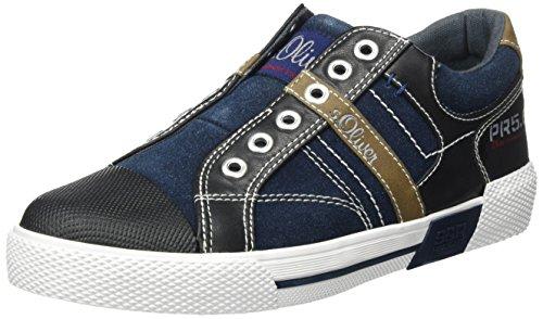 s.Oliver 54104, Sneakers Basses Garçon Bleu (Navy 805)