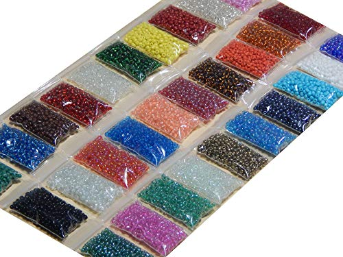 600g 25000 STK Glas Rocailles Roccailles PERLEN Rund 2mm 3mm 30 Farben NO8 Z22 -