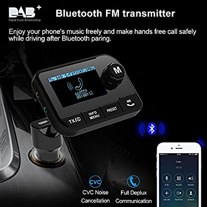 Im-Auto-DABDAB-Radio-Adapter-Uekars-23LCD-Portable-Flexibel-FM-zu-Digital-DAB-Audio-Adapter