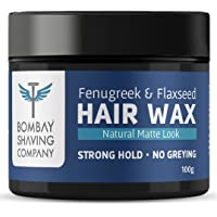 Bombay Shaving Company Strong Hold Hair Wax   Non- Sticky, Matte Finish and Chemical Free Hair Styling Wax, 100 Grams