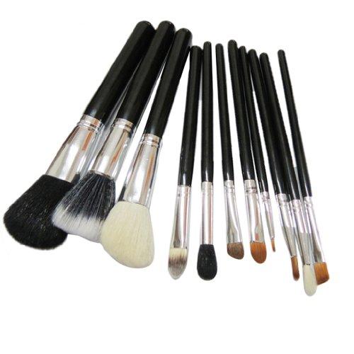 Dehang 12pcs Professionnel Cosmétique Maquillage Brosse de fard à paupières Set - Noir