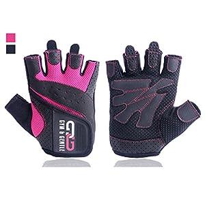 Gym & Gentle Damen Fitness Handschuhe – Schutz für Frauen beim Sport/Kraftsport/Fahrrad/Bodybuilding/Hanteltraining/Gym