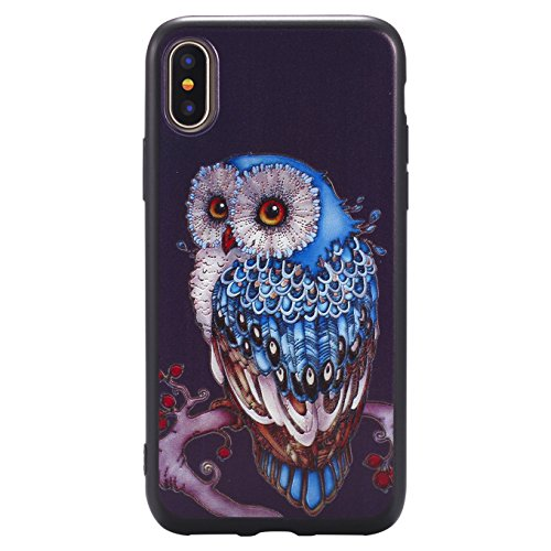 Coque Pour iPhone X, iPhone 10 Coque,AyiHuan Ultra-Thin Etui Silicone Gel TPU Souple Coque Back Case Cover pour Apple iPhone X (2017),L2 L3