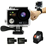 HTKJ Original 4K Dual Display Mini Ultra HD 1080P WiFi DV Action Waterproof Sports...