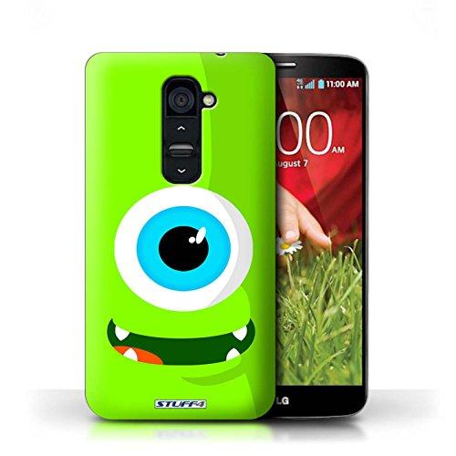 Kobalt® Imprimé Etui / Coque pour LG G2 / Rouge conception / Série Monstres Vert