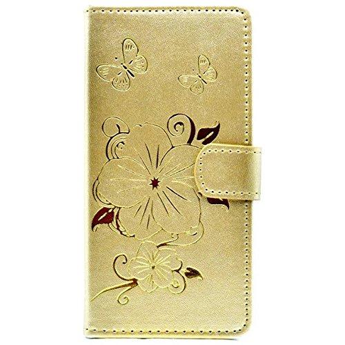 JIALUN-étui pour téléphone Apple IPhone Case, Avec fente de carte, Boucle magnétique papillon téléphone shellfor Apple IPhone 7 4,7 pouces ( Color : Pink ) Gold