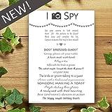I Spy Camera Selfie Game - 10 Pack - Wedding Cards - Heart Design - Favours