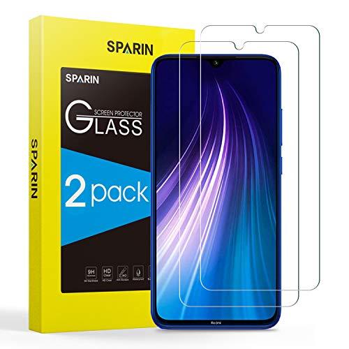SPARIN [2 Pezzi Vetro Temperato Compatibile con Xiaomi Redmi Note 8 / Note 7 / Note 7 PRO, Pellicola Xiaomi Redmi Note 8/ Note 7 [Ultra Resistente] [Durezza 9H] [Senza Bolle]