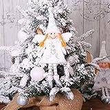 Quintion Child DIY Requisiten 3PCS / Lot Weihnachtsengel Ornament Wein-Sets Neue kreative Haushaltswaren Kleid Champagne-Flaschen-Abdeckung sackt Prop Desktop-Requisiten (Color : A, Size : 32 * 15cm)
