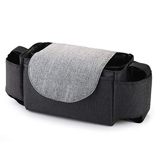 Xhong, borsa organizer per passeggino multifunzionale con 2 portabicchieri e 1 tasca per cellulare per accessori universali