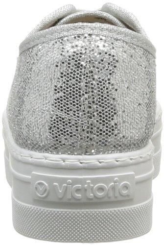 Victoria Blucher Glitter, Boots compensées femme Argent (Plata)