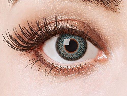aricona Kontaktlinsen Farblinsen  N°564 - Farbige 12-Monats Kontaktlinsen Paar ohne Stärke, weich und angenehm zu tragen, Wassergehalt: 42%, Wild Ornaments, Farbe:Blau (Verrückte Wilde Kostüm)