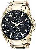 Armitron Men's Quartz Stainless Steel Dress Watch, Color:Gold-Toned (Model: 20/5224BKGP)