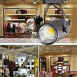 LED Track Light 20W Rail Lights for Clothing Shoes Shops Stores Track Lighting Different Light Color - Black