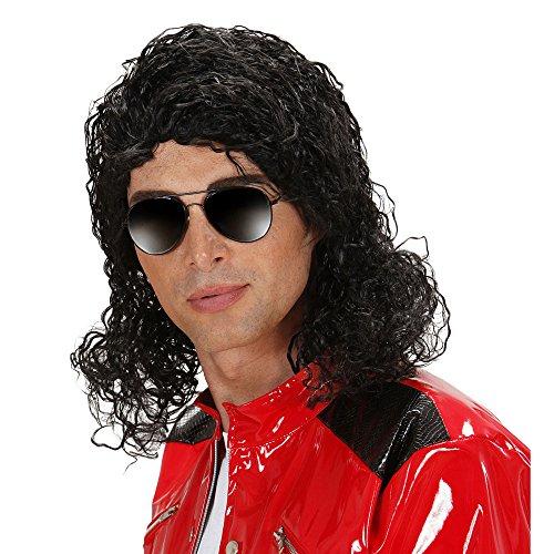 Widmann K0755 - Perücke König des Pop in Box, Einheitsgröße (Halloween Michael Jackson Kostüme)